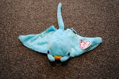 8ff1b8f3b7a Genuine TY Beanie Babies Sunray 2002 with Tag Good Condition Stingray