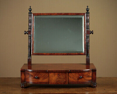 Antique Regency Era Mahogany Dressing Table Mirror c.1830.