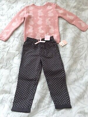 Mothercare girls outfit set 2-3 years BNWT