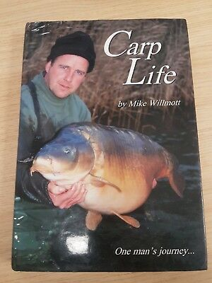 Signed Carp Fishing Book Carp Life Mike Willmott First Edition