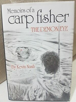 Signed Carp Fishing Book Kevin Nash Memoirs of a Carp Fisher The Demon Eye