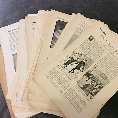 40 Illustrated Antique Magazine Pages - 1907 & 1910