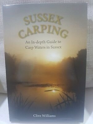 Signed Limited Special Edition Carp Fishing Book Sussex Carping Clive Williams