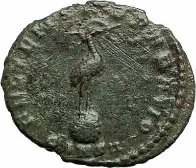 CONSTANTIUS II Constantine the Great son 348AD Ancient Roman Coin Phoenix i75850