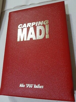 Signed Leatherbound  Carp Fishing Book Carping Mad by Mike Redfern