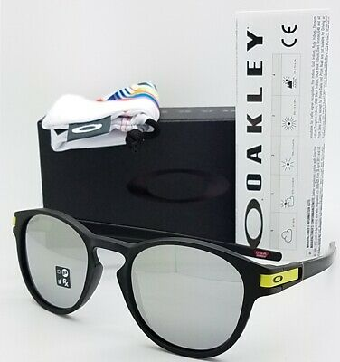 8693cb2b68 NEW Oakley Latch Sunglasses Black Chrome Iridium 9265-21 AUTHENTIC OO9265  Rossi