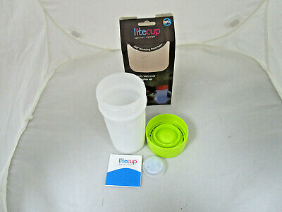 Litecup - Sippy Cup Nightlight - Non Spill - 360° Drinking Edge Neon Green