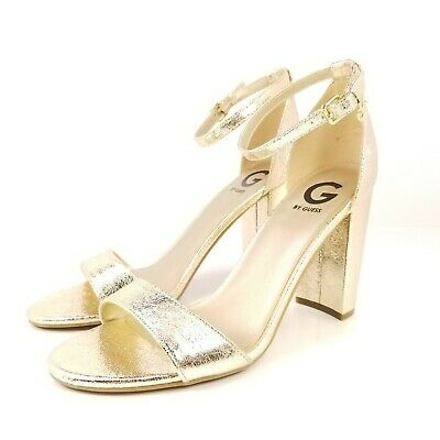 5dc35b7700a G by Guess Shantel Heels Gold Metallic Ankle Strap Sandals Shoes Womens  Size 10M
