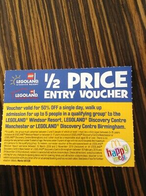 Legoland 1/2 Half Price 50% Entry Voucher for up to 5 People Windsor Manchester