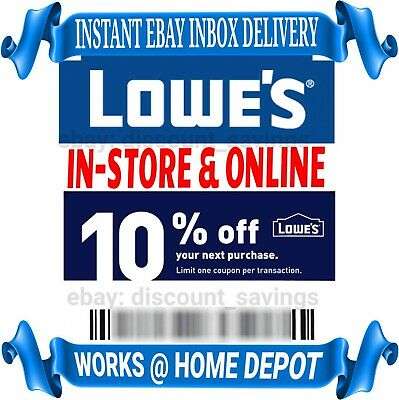 """Lowes 10% off Instant Delivery Discount Online/InStore Exp 3/24 """"FAST DELIVERY"""