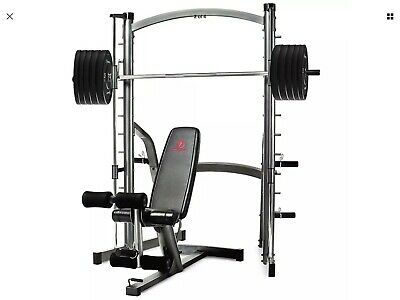 Marcy SM1000 Smith Machine And Bench With 150Kg Olympic Weight Set
