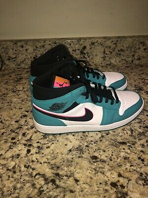 best service 82840 41f23 New 2018 Nike Air Jordan 1 Retro MID SE South Beach 852542-306 Mens Shoes