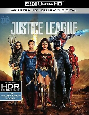 Justice League(4K Ultra Hd+Blu-Ray+Digital)W/slipcover New Factory Sealed