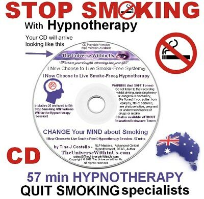 STOP SMOKING HYPNOTHERAPY CD QUIT Hypnosis Session TOOL AID Addiction Quitting