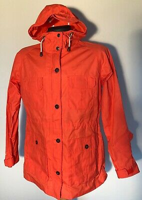 NWOT Madewell Penfield Hudson Wax Cloth Parka OrangeJacket Size Large
