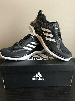 low priced ba5b0 39dc8 Mens Adidas Speed Trainer 3 Black Athletic Training Baseball Shoes Sz 10