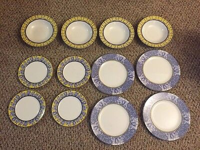 Coventry fine Porcelain Palace Garden Set Salad Plates 4 Soup Bowl X 4 Plate X 4
