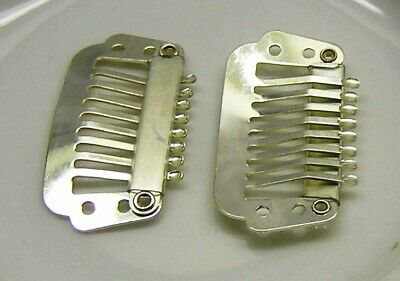Hair comb, silver-plated stainless steel, 28x16mm with 4 holes x 4