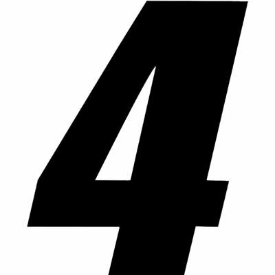 """Black One Industries 6"""" SuperCross Digit Number Decal"""