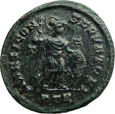 CONSTANTINE I The Great Ancient Roman Coin Mars in Military dress Rare i76061