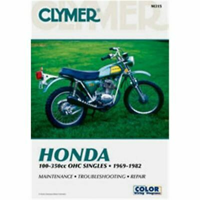 Clymer Dirt/Street Bike Manual - Honda 100-350cc OHC Singles - HON CT125 1977;