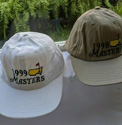 729fe99e56c Vintage Masters Augusta National 1999 and 1998 Golf Hat Caps Hats Strapback