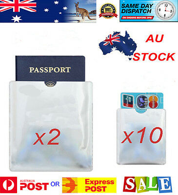 2 Passport & 10 RFID Blocking ID Credit Card Protector / for your Golf Holiday