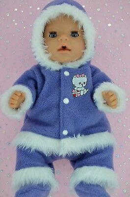 """Play n Wear Doll Clothes To Fit 17"""" Baby Born JACARANDA JACKET~PANTS~BOOTIES"""