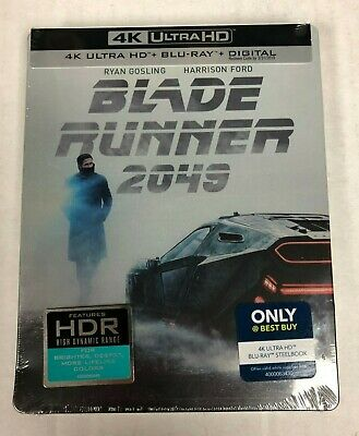 Blade Runner 2049 4K Ultra HD HDR Blu-Ray Steelbook NEW IMPERFECTIONS
