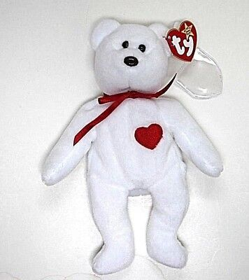 15cfefd779b TY BEANIE BABIES--VALENTINO White Bear--Mint Condition--1993 Pvc ...