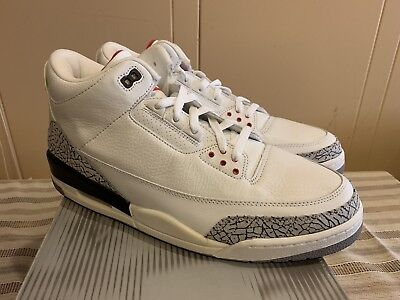 pretty nice 06644 555f9 DS 2003 AIR Jordan Iii 3 Retro White/cement Grey-Fire Red Size 14 Brand New!