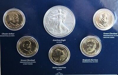 2012 US Mint Annual Uncirculated Dollar 6 Coin Set ASE Presidents Sacagawea $1