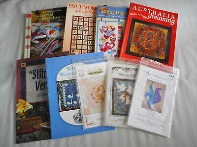 Bulk Lot of Quilting and Applique books and patterns - 6 books and 3 patterns