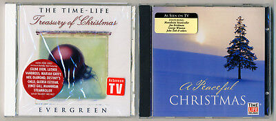 The Time Life Treasury of Christmas Evergreen and A Peaceful Christmas 2 NEW CDS