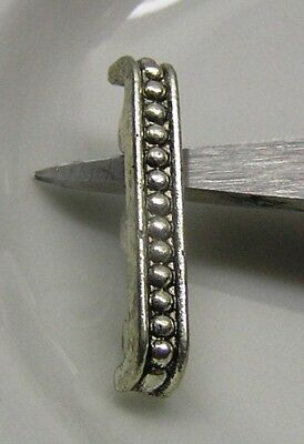 "Spacer bar, antique silver-plated ""pewter"", 24x4mm, 3-strand beaded bar x 6"