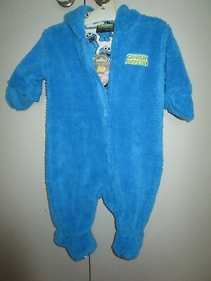 Peter Alexander Baby Cookie Monster fluffy One Piece  Size 1 for  12-18 Months