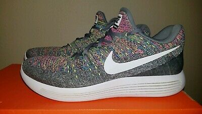 fd22872f60a97 Nike Men s Lunarepic Low Flyknit 2 Cool Grey MULTICOLOR White 863779-003 SZ  11.5