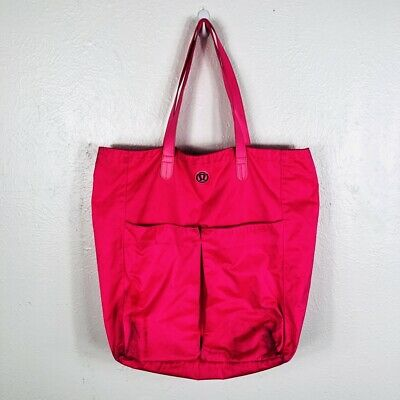 f4374251f87a Lululemon Athletica Go With The Flow Tote Bag Neon Hot Pink Large Pockets