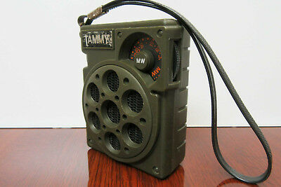 Vintage TAMMY Small Transitor Radio - Rare Army Style!