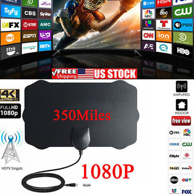 350 Mile Range Antenna TV Digital HD Skywire 4K  Antenna HDTV 1080P Skywire USA
