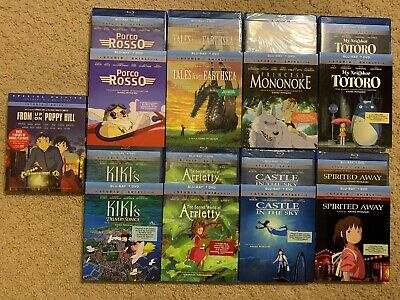Disney's Studio Ghibli Blu Ray Collection (all With Slipcovers)