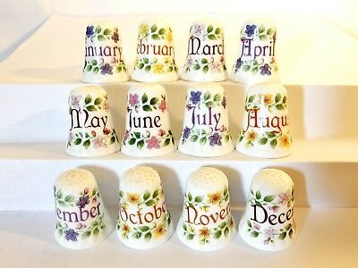RARE Full Set Fenton Month Thimbles January February March April May June July