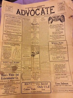 The Advocate Newspaper - 4 Pages - Hornsby - March 20 1930