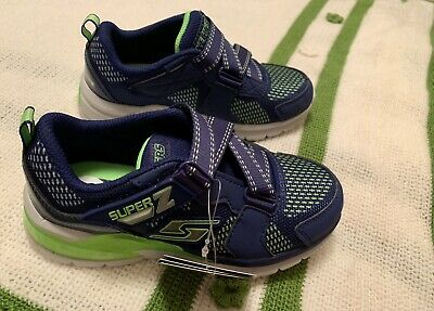 264e1d3e68cc NWT Skechers Super Z Lights Athletic Shoes Toddler Boys 13 Light Up Blue