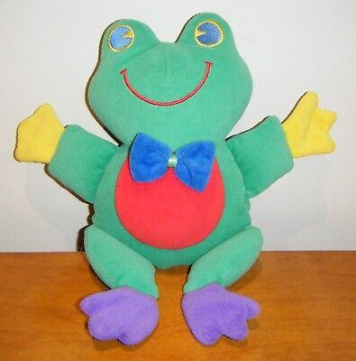 Frog rattle 24 cm plush, no tag - used