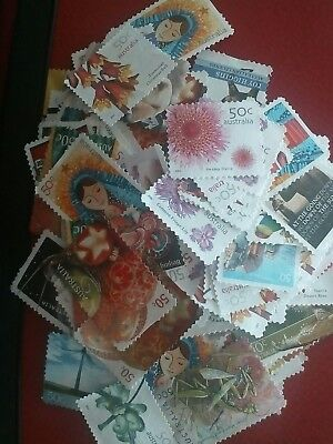 Unfranked 50 Cent Stamps OFF PAPER ! Face Value $100.