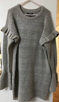 145a867d1b NWT Romeo & Juliet Couture Women's Size L Taupe Ruffle Bell Sleeve Sweater  Dress