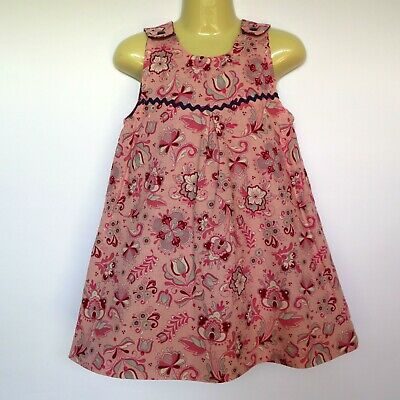 Girls Floral Reversible Pinafore dress -sizes 3 & 5 - pink purple daisy flower