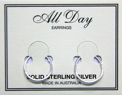 Sterling Silver Hinged Sleepers 10mm to 16mm