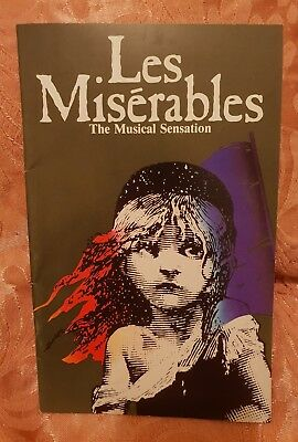 Les Misérables - Theatre Royal Programme - Australia - 1987